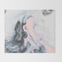 Modern marble 01 Throw Blanket