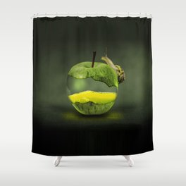 100% natural apple Shower Curtain
