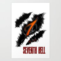 Welcome to Seventh Hell Art Print