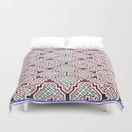 Song for Good Work - Traditional Shipibo Art - Indigenous Ayahuasca Patterns Duvet Cover