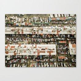 Aerial view of trucks Canvas Print