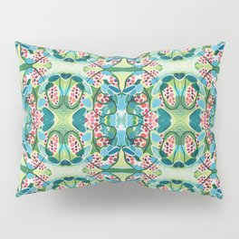 Green and Blue Abstract Pillow Sham