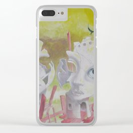 Twins above the Abyss Clear iPhone Case