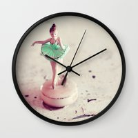 ballerina Wall Clocks featuring ballerina by elle moss