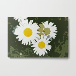 Daisy Abstract Metal Print