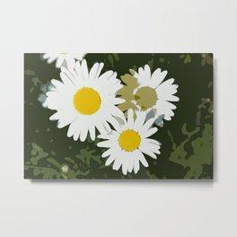 Daisy Abstract Metal Print