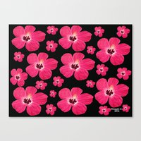 hibiscus Canvas Prints featuring Hibiscus   by maggs326
