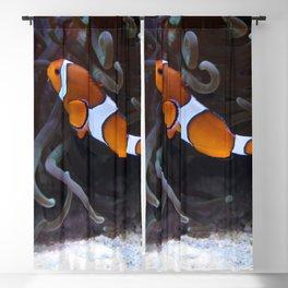 Sea Word Clownfish Blackout Curtain