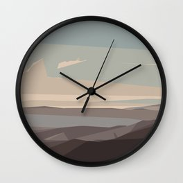 brown blue and dark brown abstract background Wall Clock