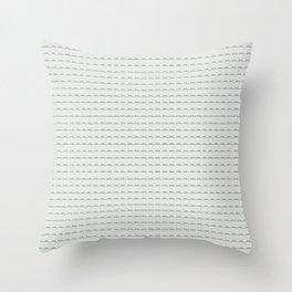 Phillip Gallant Media Design - Black Squiggles on White Throw Pillow