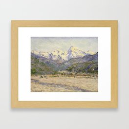 The Valley of the Nervia Framed Art Print