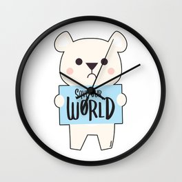 Polar Environmental Conservation climate change animal Wall Clock