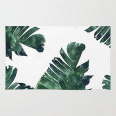 Banana Leaf Watercolor Pattern #society6 Rug