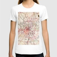 nashville T-shirts featuring Nashville by MapMapMaps.Watercolors