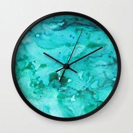 Abstract Aqua Wall Clock