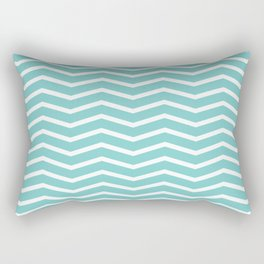 Aqua Chevron Pattern 3 Rectangular Pillow