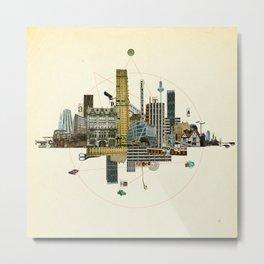 Collage City Mix 8 Metal Print