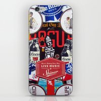 coasters iPhone & iPod Skins featuring Dead Guy Shiner Collage by Jen Gotsch