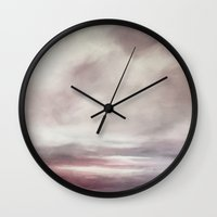 cargline Wall Clocks featuring Clouds by cargline