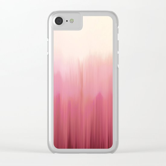 Soft Pink Woods Clear iPhone Case
