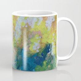 Blue Yellow Criss Cross Coffee Mug