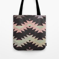 navajo Tote Bags featuring navajo triangles by spinL