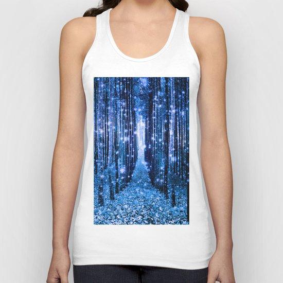 Magical Forest Bluest Blues Unisex Tank Top