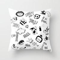 random Throw Pillows featuring Random by Primo