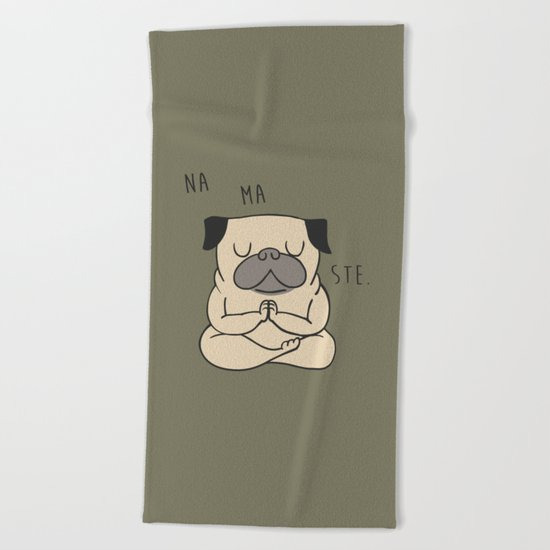 NAMASTE Beach Towel