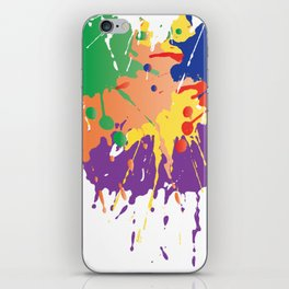 Colourful Paint splash iPhone Skin