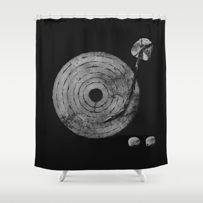 Old Time Rock N Roll Shower Curtain