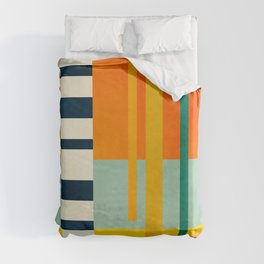 trees with tropical sun Duvet Cover
