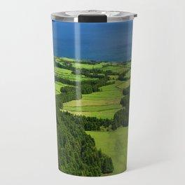 Typical Azores landscape Travel Mug