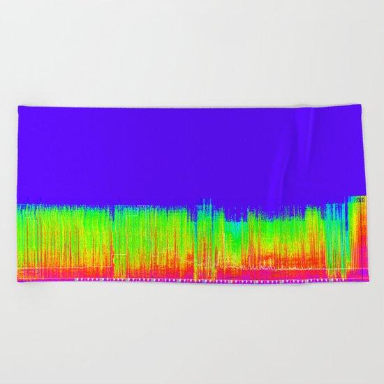 graphic score #1 Under Pressure Beach Towel