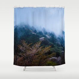 Japanese forest 4 Shower Curtain