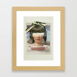 Tears In The Typing Pool   Collage Framed Art Print