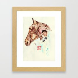 The horsewoman Framed Art Print
