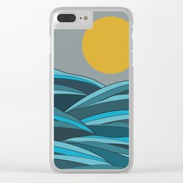 The ocean, waves and sun Clear iPhone Case