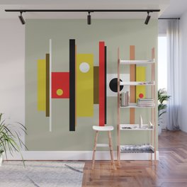Mid Century Geometric Art Design Wall Mural