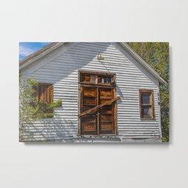 Abandoned Church, Zap, North Dakota 4 Metal Print