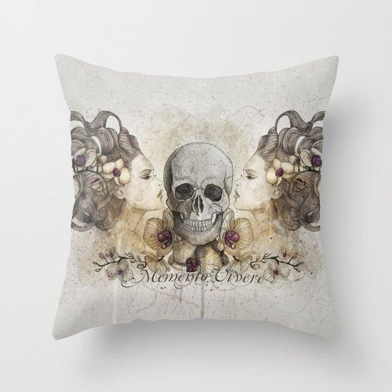 Memento Vivere Throw Pillow