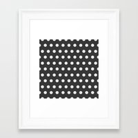 gold dots Framed Art Prints featuring Dots by Nobu Design