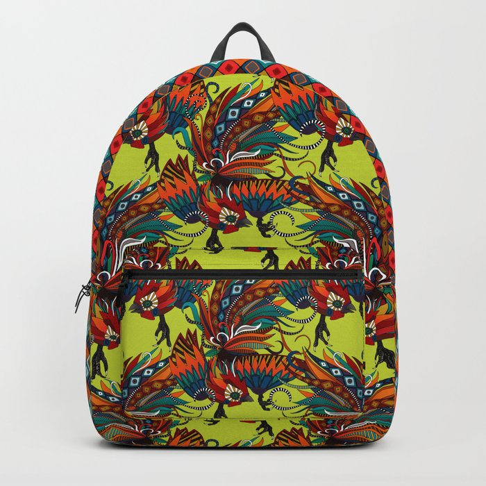 rooster ink chartreuse Backpack