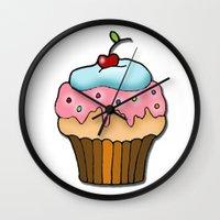 cupcake Wall Clocks featuring Cupcake by AnnaCas