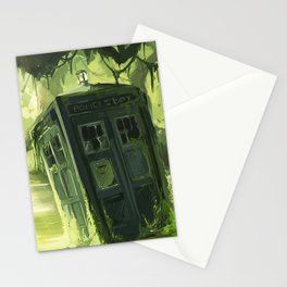 Tardis In The Swamp Stationery Cards