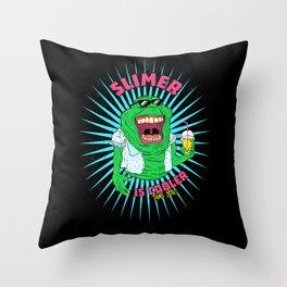 Trendy Slimer Throw Pillow