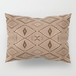 Abstract Pattern inspired by Navajo Weaving in Earthtones Pillow Sham