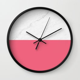 Marble And Pink Wall Clock