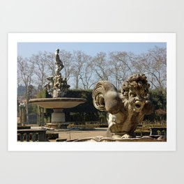 Boboli Gardens In Florence Detail Of Isolotto Art Print