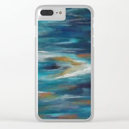 Moroccan Sea Spray Clear iPhone Case